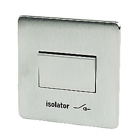 Crabtree 6AX Fan Isolating Switch Brushed Chrome