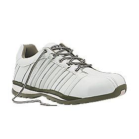 Worksite Industrial Wear Safety Trainers White Size 8