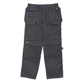 "DeWalt Pro Tradesman Work Trousers Black 34"" W 31"" L"