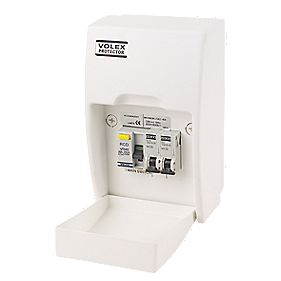 Volex Garage Unit 40A 30mA RCD with MCBs