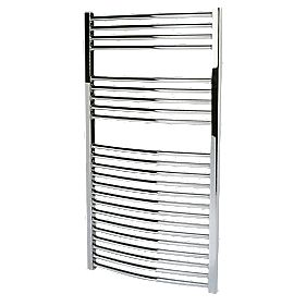 Kudox Curved Towel Radiator Chrome 1100 x 600mm 403W 1375Btu
