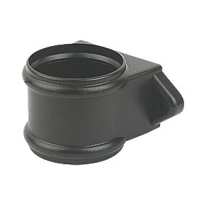 FloPlast SP115CI Cast Iron Effect Pipe Coupler Black 110mm