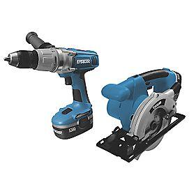 Erbauer ERE099KIT 18V Combi & Circular Saw Kit