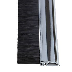 Stormguard Concealed Fix Brush Seal Chrome 838mm
