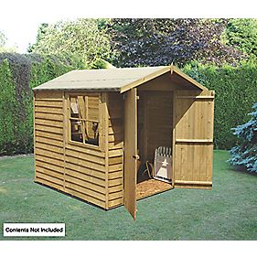 Shire 7' x 7' (Nominal) Apex Overlap Double Door Shed