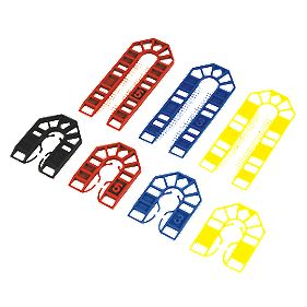 Assorted Plastic Shims x x mm Pack of 100