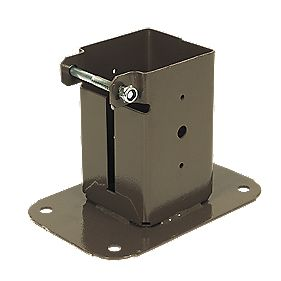 Bolt-Down Post Supports 75 x 75mm Pack of 2