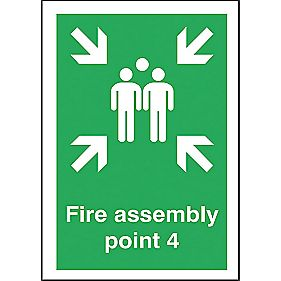 """Fire Assembly Point 4"" Sign 420 x 297mm"