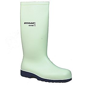 Dunlop Hevea Acifort Classic A681331 Safety Wellington Boots White Size 8