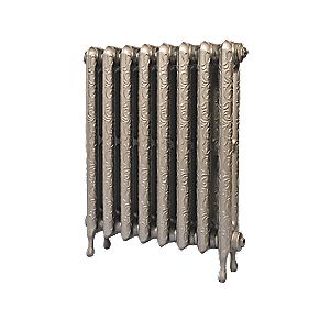 Cast Iron Art Nouveau 750 Designer Radiator Bronze 750 x L: 136 x 745mm