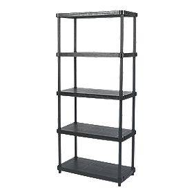Solid Plastic Shelving with 200kg Shelf Capacity 5-Tier Tier