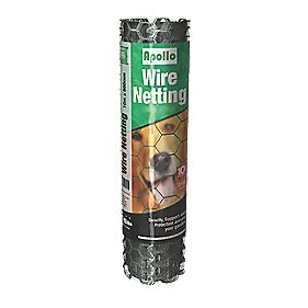 Apollo 50mm PVC-Coated Wire Netting 0.5 x 10m