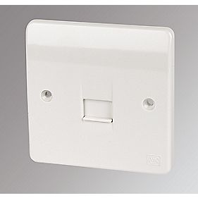 MK 1-Gang Slave Telephone Socket White
