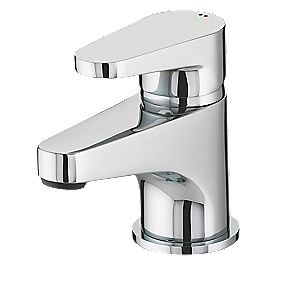 Bristan Quest Bathroom Basin Mono Mixer Tap with Click Waste