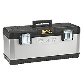 stanley fatmax 26 metal plastic tool box metal. Black Bedroom Furniture Sets. Home Design Ideas