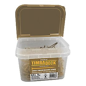 Timbadeck Countersunk Carbon Steel Decking Screws 4.5 x 75mm Pack of 500