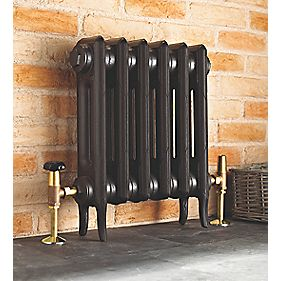 Cast Iron 460 Designer Radiator 2-Column Anthracite H: 460 x W: 645mm