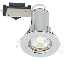 LAP Fixed Round Low Volt Fire Rated Downlight Polished Chrome 12V