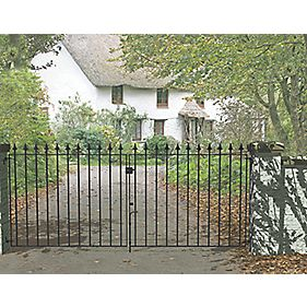 Metpost Montford Double Gate Black 975 x 935mm