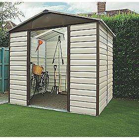 Yardmaster Shiplap Sliding Door Apex Shed 8 x 6'