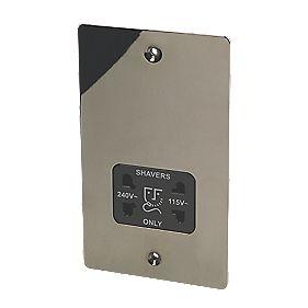 LAP Dual Voltage Shaver Socket 230/115V Black Nickel
