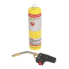 Rothenberger Quick-Fire Torch Mapp/Pro Gas Cylinder