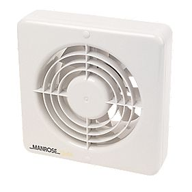 Manrose High Performance Ball Bearing Extractor Fan White 150mm