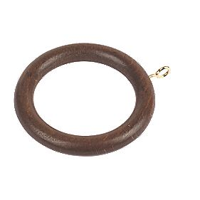 28mm Curtain Rings Walnut