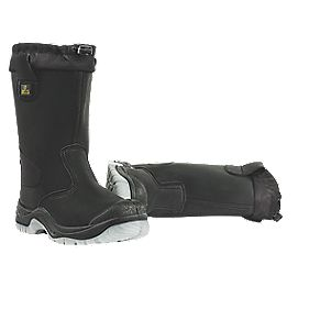Amblers Safety FS209 Drawstring Top Rigger Boots Black Size 8