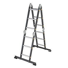 Professional Adjustable Ladder -Section 3 Rungs 3.7m