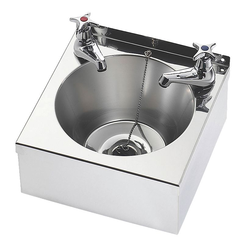 Franke Sink Stockists : Image of Franke Model A Wall-Hung Washbasin 2 Taps S/Steel 1-Bowl 305 ...