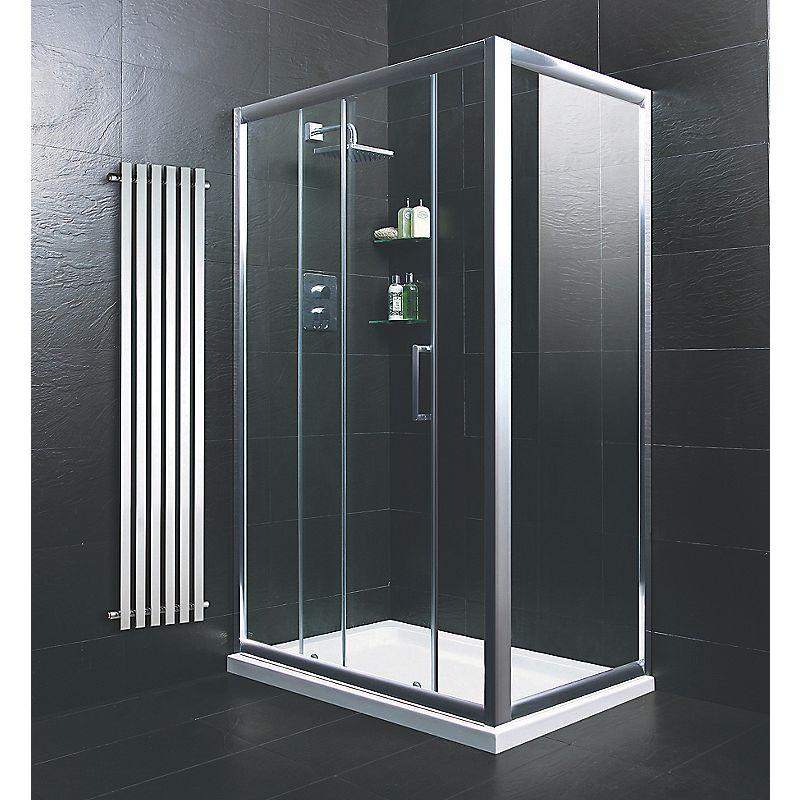 Moretti pivot door shower enclosure silver 800 x 800 x 1850mm for 1200 pivot shower door
