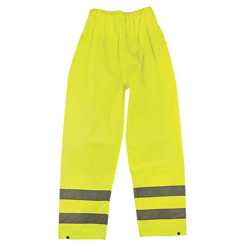 HiVis Reflective Trousers Elasticated Waist Yellow Large 2646 W 30 L