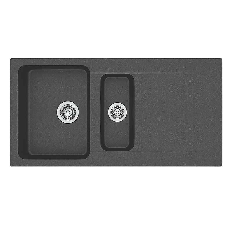 franke orion inset kitchen sink black 1 bowl reversible 1000 x 510