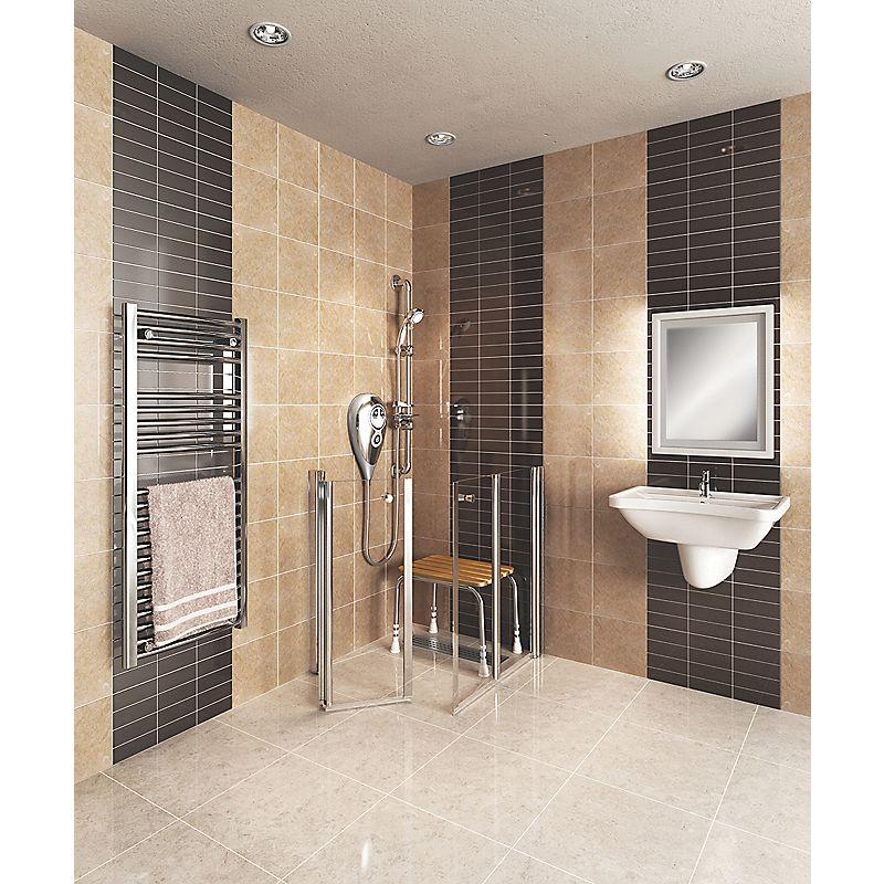 Akw narvello duo care bi fold shower door 1000 x 1000 x 900mm for 1000 bi fold shower door