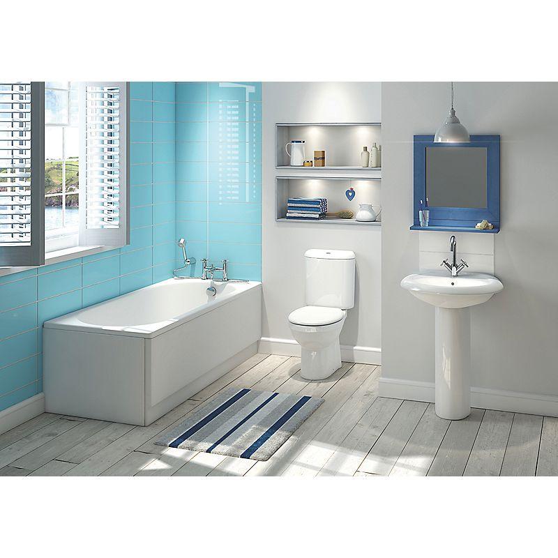 image of salisbury contemporary bathroom suite with roll top bath
