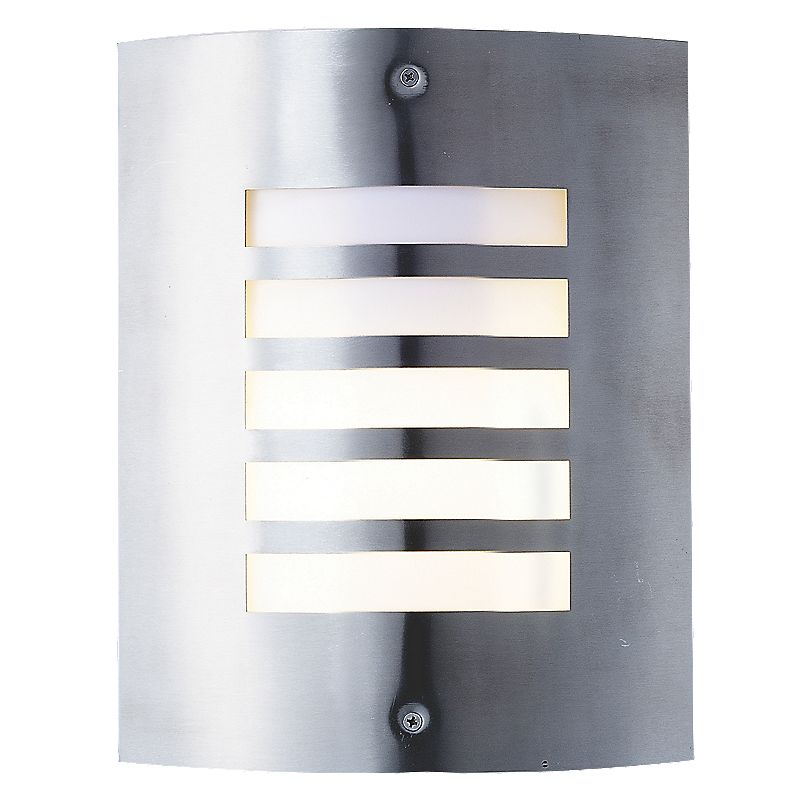 new york brushed stainless steel wall light 60w. Black Bedroom Furniture Sets. Home Design Ideas