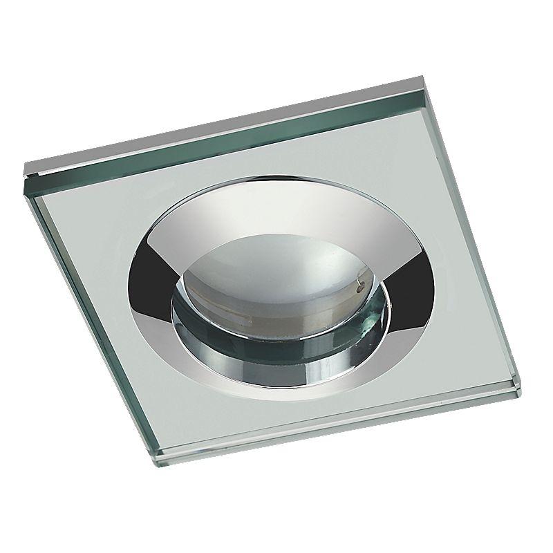 image of sensio fixed square glass shower light chrome 240v