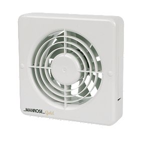 Manrose mg150bs 20w long life axial kitchen extractor fan for 6 bathroom extractor fan
