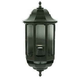 Screwfix Outdoor Wall Lights : ASD 60W Black Slave Half Lantern Wall Light PIR Included PIR Security Lights Screwfix.com