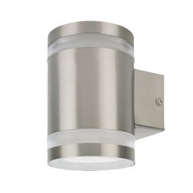 Screwfix Outdoor Wall Lights : Ranex Sonya Stainless Steel Outdoor LED Wall Light 300lm 5W LED Garden Lights Screwfix.com