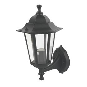 Lantern Wall Light Black 60W Outdoor Wall Lights Screwfix.com - Wall lights, LED bathroom ...
