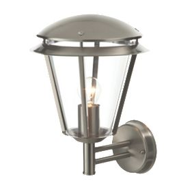 Screwfix Outdoor Wall Lights : Antler Brushed Stainless Steel Wall Light 60W Outdoor Wall Lights Screwfix.com