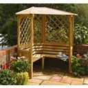 Rowlinson Garden Products Balmoral Corner Arbour 1.58 x 1.58 x 2.1m
