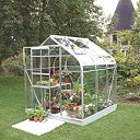 Halls Supreme 66 Aluminium Greenhouse Toughened Glass 6