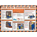 First Aid for Construction Sites Poster 420 x 594mm