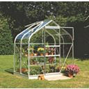 Halls Supreme 46 Aluminium Greenhouse Toughened Glass 6