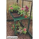 Halls Greenhouse 1-Tier Staging Green Aluminium Green 19 x 42 x 28""