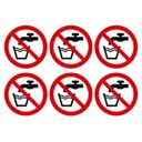 Do Not Drink Symbol Adhesive Labels 100mm Pack of 30