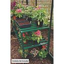 Halls Greenhouse 2-Tier Staging Green Aluminium 3